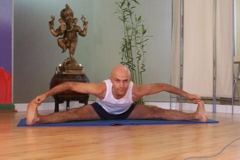 yoga en las palmas